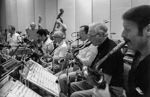 The Sinatra Saxes, pictured in 1980. Photo courtesy of Teddy Sommer.