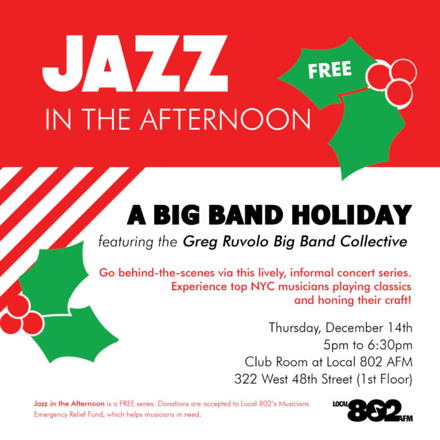 Jazz in the Afternoon | Associated Musicians of Greater New