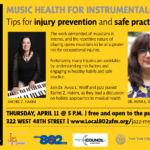 "Jazz Mentors XIX: ""Musical Health for Instrumentalists: Tips for Injury Prevention and Safe Practice"""
