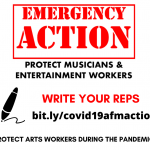 TAKE ACTION: Tell Your Reps to Protect Musicians and Entertainment Workers!