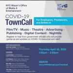 COVID-19 Town Call for NYC Artists and Freelancers